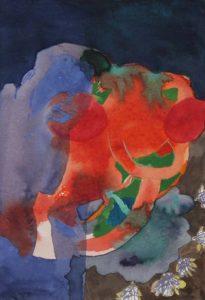 Strudel #05/15, Aquarell, 21 x 21 cm, 2013